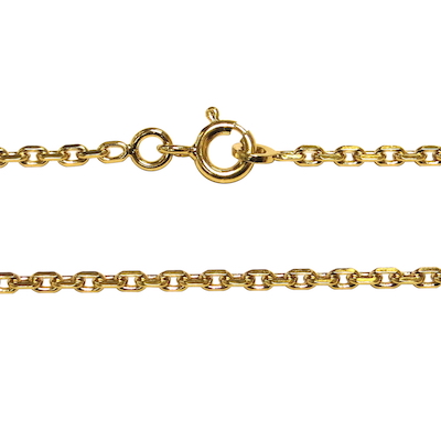 Collier avec maille forçat, métal doré
