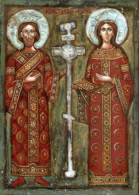 L'empereur Constantin et l'impératrice sainte Hélène