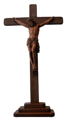 Crucifix sur socle ou calvaire
