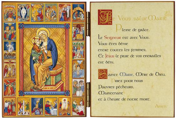 Diptyque des 20 mystères du Rosaire