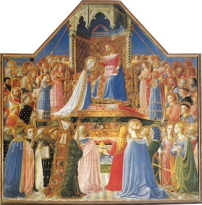 Le couronnement de la Vierge par Fra Angelico