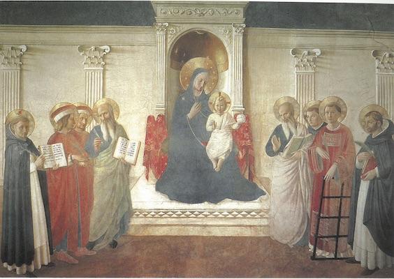 La Vierge trônant avec son divin Fils