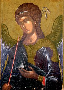 Icône de l'Archange saint Gabriel (détail)