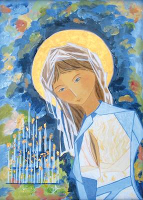 Icône de Notre-Dame de Lourdes