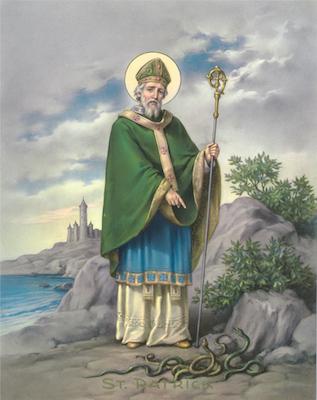 Icône de saint Patrick aux serpents