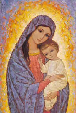 Icône Vierge à l'Enfant-Jésus