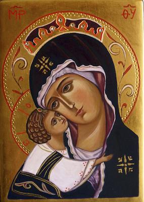 Icône de la Vierge Marie à l'Enfant