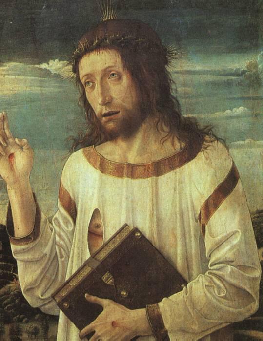 Jésus bénissant de Giovanni Bellini
