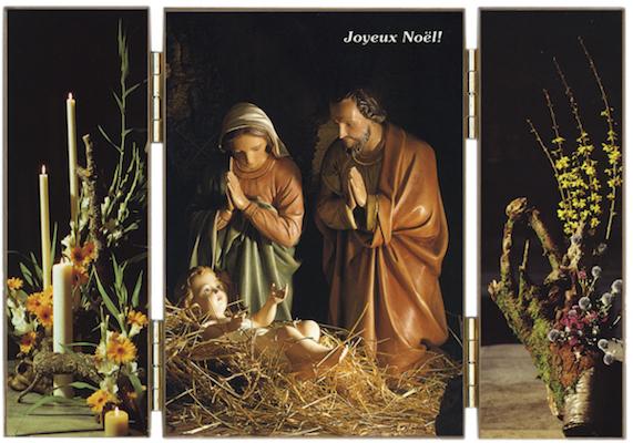 Jésus, Marie et Joseph : Nativité