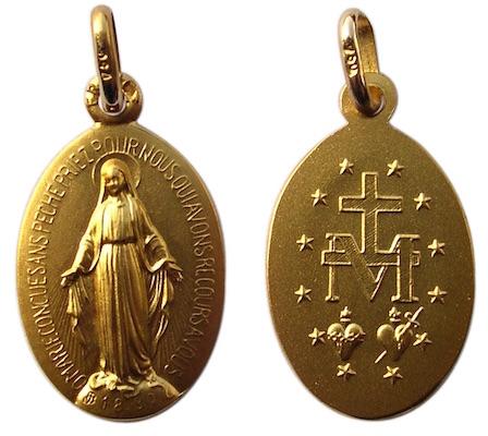 Médaille miraculeuse en or massif