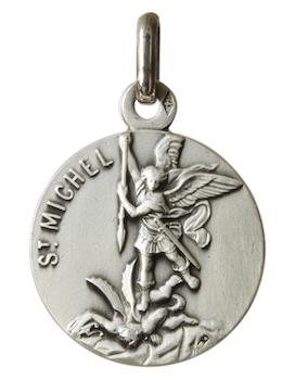 Médaille de saint Michel Archange en argent massif