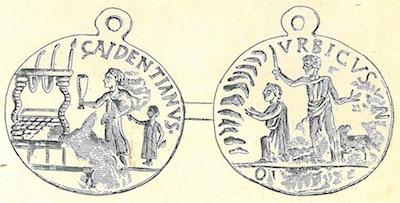 Médaille religieuse oblation antique