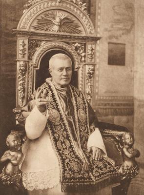 Le pape saint Pie X