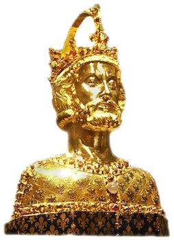 Buste reliquaire de Charlemagne