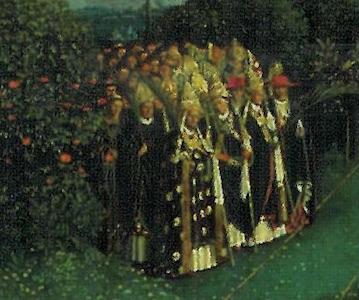 Groupe des confesseurs - retable