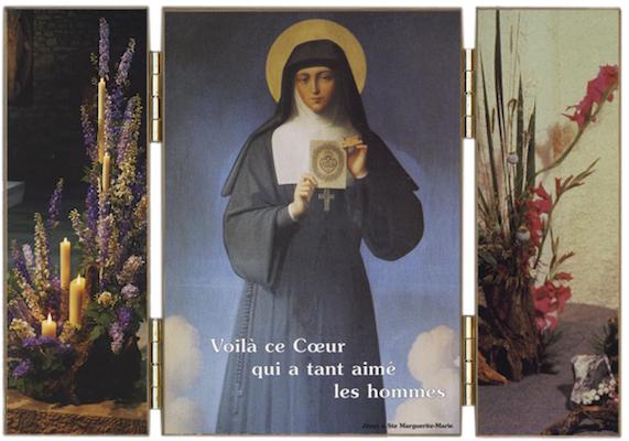 Sainte Marguerite-Marie et le Sacré-Coeur