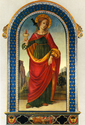 Sainte Lucie vierge et martyre
