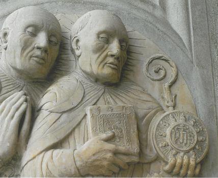 Saint Bernardin de Sienne avec sa tablette IHS