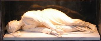 Sainte Cécile dans son tombeau