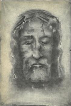 Visage du Christ d'après le saint Suaire de Turin réalisé par Céline