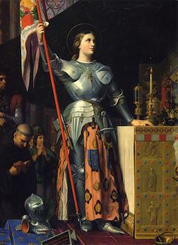 Sainte Jeanne au sacre de Charles VII