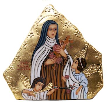 Icône de sainte Thérèse et les Anges