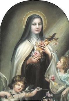 Sainte Thérèse de l'Enfant-Jésus aux Anges