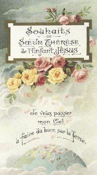 Sainte Thérèse de l'Enfant-Jésus - pluie de roses