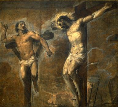Le Christ en croix et le Bon Larron