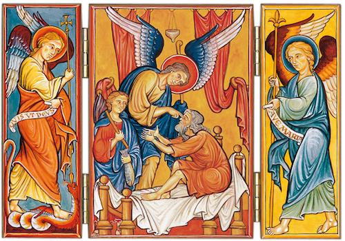 Les  trois Archanges saints Gabriel, Raphaël et Michel