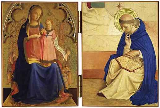 La Vierge et saint Dominique