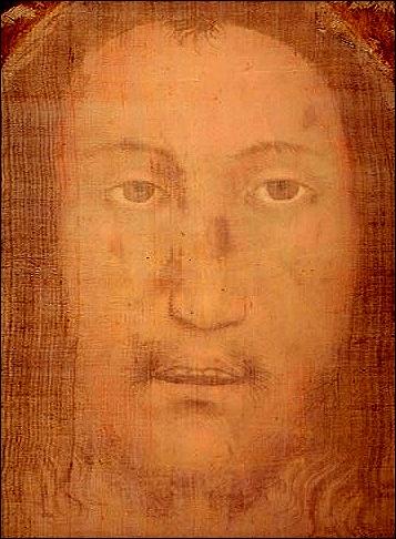 Visage de Jésus sur le voile de Manoppello